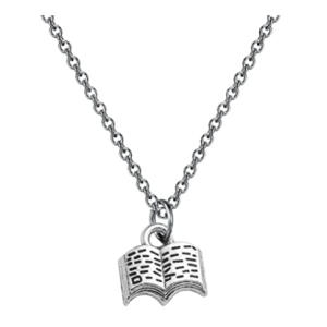 Book Pendant Necklace