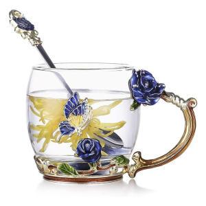 Butterfly Flower Clear Mug