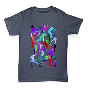 Boy's Cricket Rainbow Silhouette T-Shirt