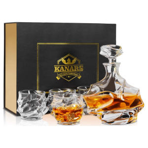 Everest Whisky Decanter and Glasses Set