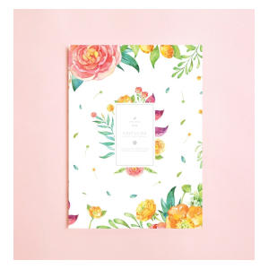Floral Watercolor Lined Notebook