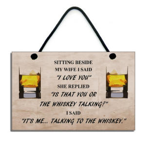 Handmade Wooden Whiskey Sign