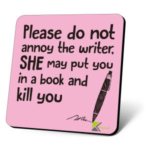 Funny Writer Coaster