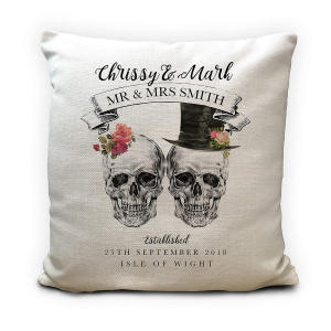 Gift Skulls Mr and Mrs Cushion