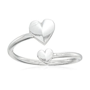 Heart Wrap Sterling Ring