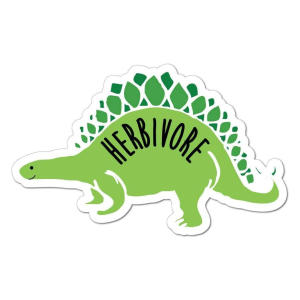 Herbivore Vegetarian Car Sticker