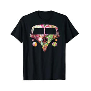 Hippy Van Flower T-Shirt