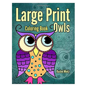 Large Print Coloring Book Owls