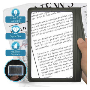 Large Ultra Bright LED Page Magnifier