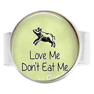 Love Me Don't Eat Me Adjustable Ring