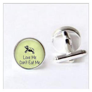 Love Me Don't Eat Me Cufflinks