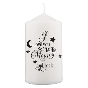 Love You Romantic Candle