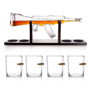 Elegant Rifle Whiskey Decanter