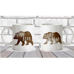 Mama Bear, Papa Bear Mug Set