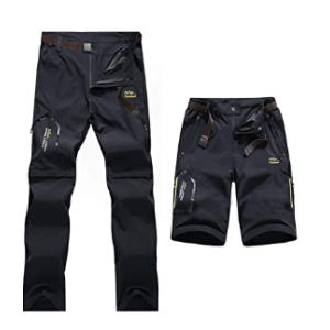 Mens Zip Off Convertible Hiking Trousers