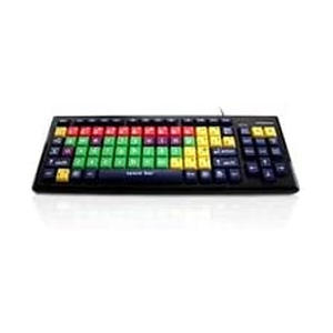 Mixed Colour Lower Case Keyboard with Extra Large Keys