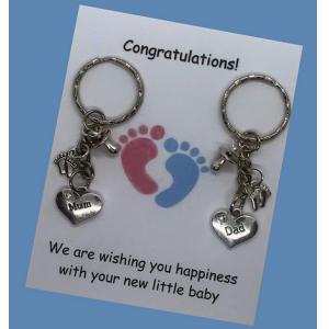 Mum Dad Congratulations Keyring