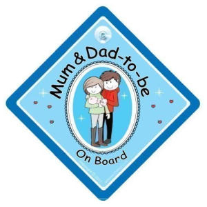 Dad to Be Novelty Car Sticker