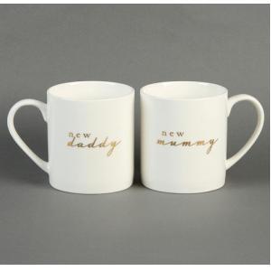 New Mummy And Daddy Mug Set