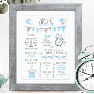 Personalised Print for Baby Boy