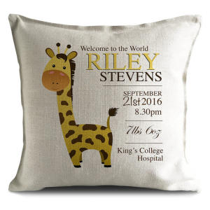 Personalised New Baby Born Cushion
