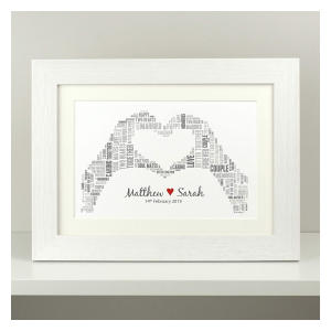 Personalised Heart Hands Print