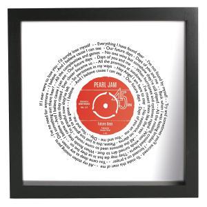 Personalised Lyrics Vinyl Print