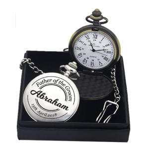 Personalised Polished Pocket Watch