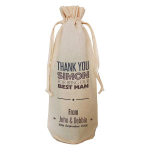 Personalised Usher Bottle Bag