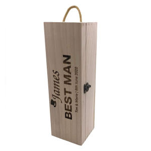 Personalised Usher Champagne or Wine Bottle Holder