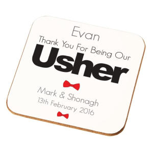 Personalised Usher Coaster