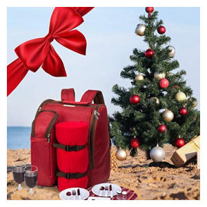 Red Picnic Backpack Hamper