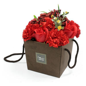 Red Rose and Carnation Bouquet