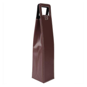 Reusable Leather Wine Tote Bag
