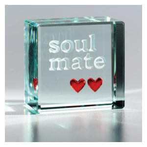 Soul Mate Glass Paperweight