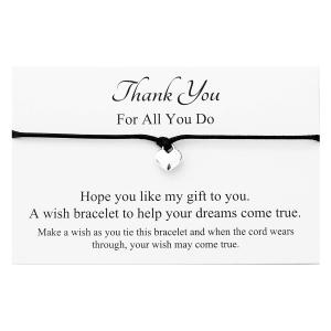 Thank You Heart Charm Bracelet