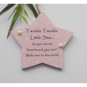 Twinkle Twinkle Keepsake Plaque