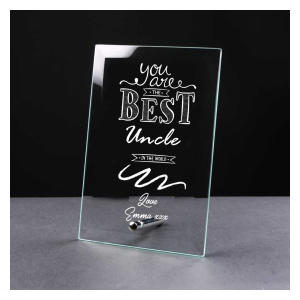Uncle Personalised Engraved Glass Plaque