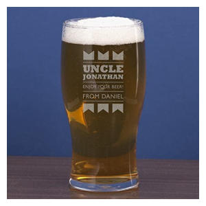 Uncle Personalised Pint Glass