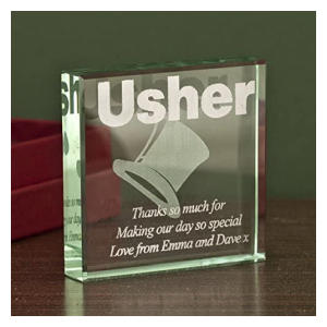 Usher Glass Keepsake