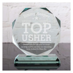 Usher Glass Octagon Award