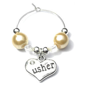 Usher Wine Glass Charm