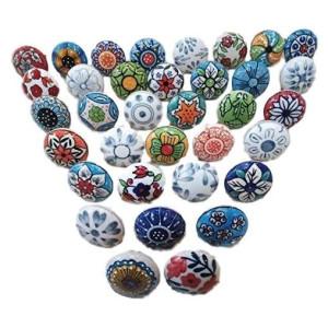 Vintage Look Ceramic Knobs