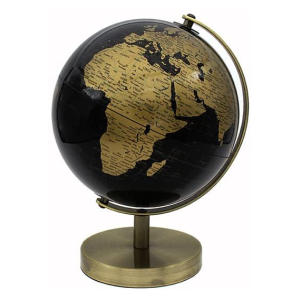 Vintage Rotating Gold and Black Globe