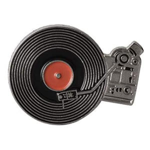 Vinyl Record Player Brooch