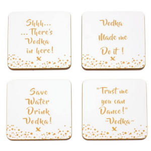 Vodka Coaster Set with Message