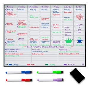 Weekly Planner Fridge Whiteboard