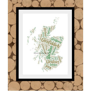 Whiskey Map Of Scotland