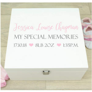 Wooden Baby Memory Box