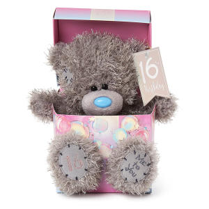 16th Birthday Tatty Teddy Bear in Box